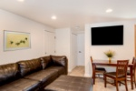 This large screen flat panel and comfy sectional make for the ultimate movie night! image