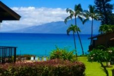 Stunning ocean and the island of Molokai views image