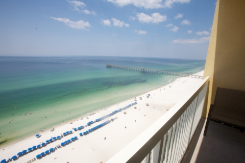Relax on your private balcony and enjoy the sounds of the Gulf