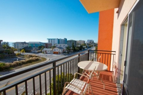 Private balcony looking out to the Gulf.  Madeira Bay Resort is alongside of Gulf Blvd. with easy access to John